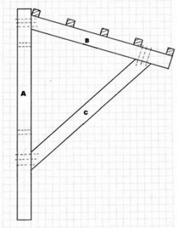 Как сделать деревянный навес над крыльцом своими руками фото 8
