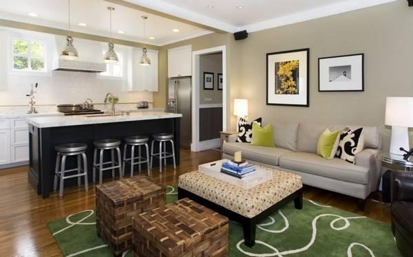кухня гостиная 25 кв м дизайн фото интерьеры и проекты планировка