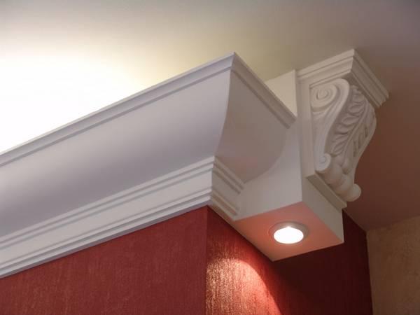 Закарнизная подсветка потолка светодиодной лентой: уникальное освещение